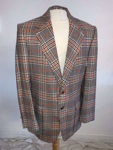 Plaid cashmere sport jacket