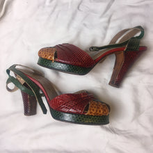 Load image into Gallery viewer, Vintage Marilyn Snakeskin Heels