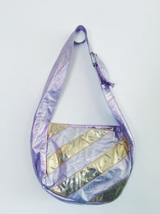 Bianca White Medium Bag - Metallic