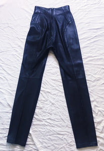 Vintage North Beach Pants Leather - Black