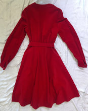 Load image into Gallery viewer, Vintage Velvet Dress - Red