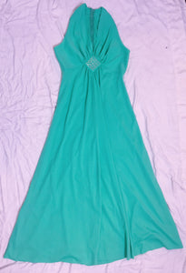 Vintage Dress Polyester - Green
