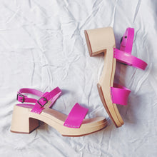 Load image into Gallery viewer, Swedish Hasbeens Gittan Sandals - Neon Pink