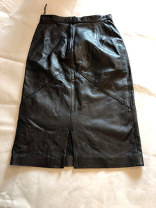 Deja Vou Designs Leather pencil skirt