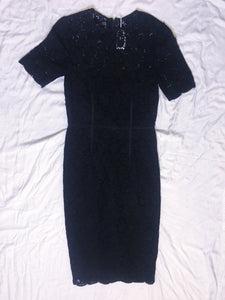 Vintage Dress  Crochet Lace - Black