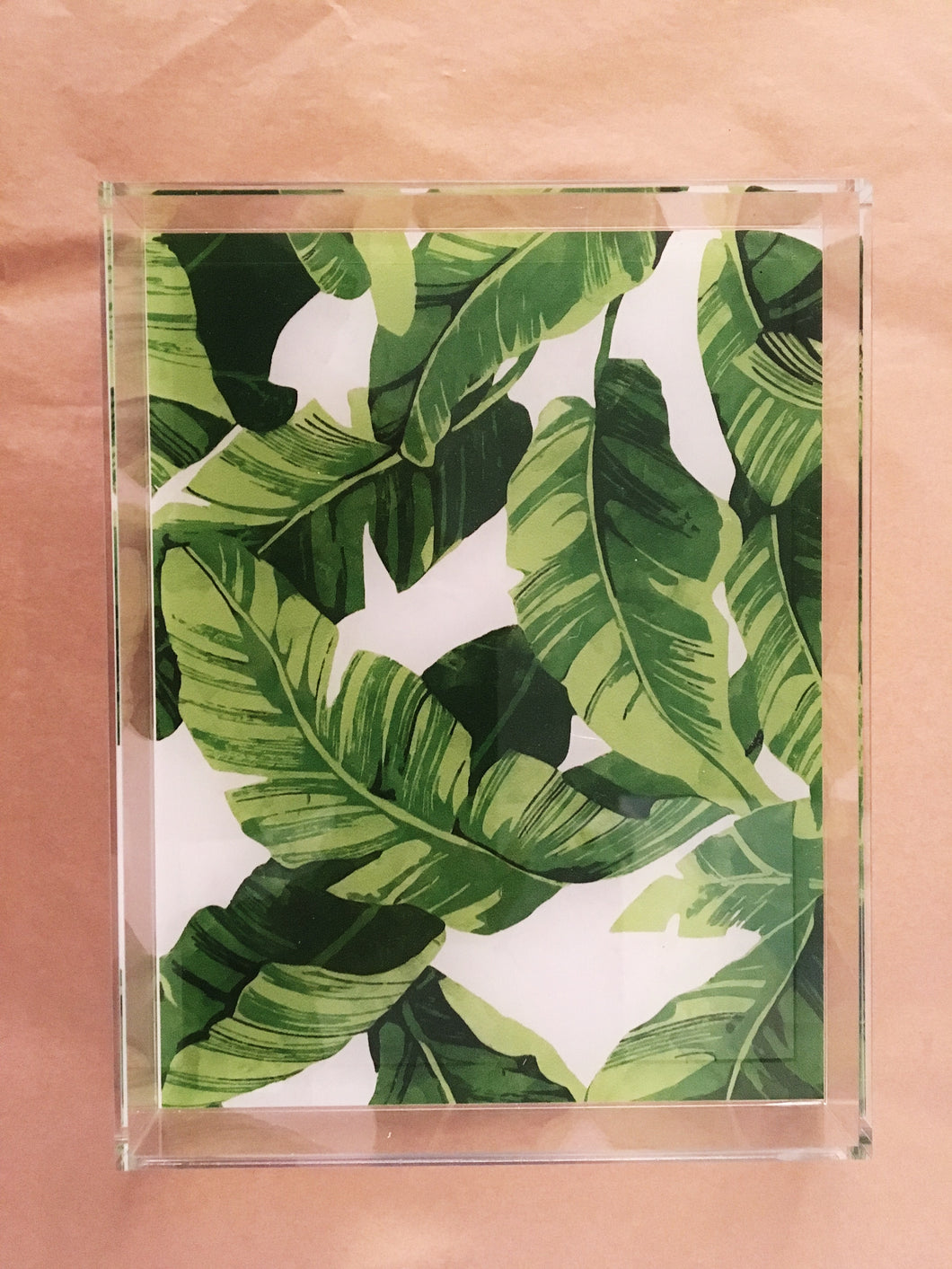 Acrylic Tray - Leaves
