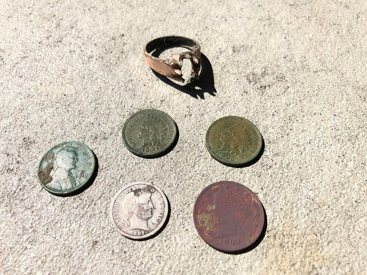Early April Metal Detecting Hunt yields gold, silver and old Indians
