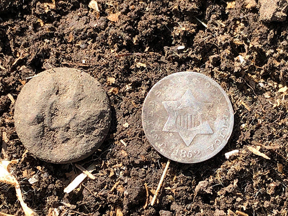 Fun Hunt on Oregon Trail brings Trimes and Half Dimes!