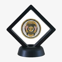 3D Floating Coin Holder and base