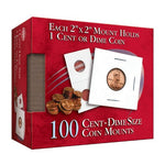 Cent-Dime 2x2 Mylar Protective Coin Covers: 100 Count