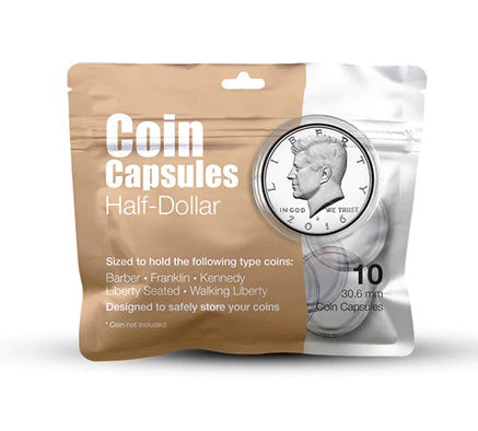 Half-Dollar Coin Capsule Pack