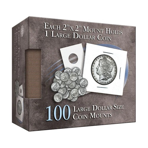 Dollar 2X2 Coin Mounts Cube, 100 Count