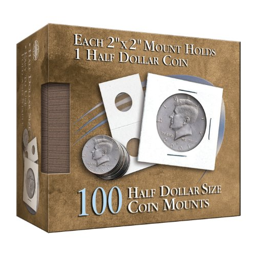 Half-Dollar 2x2 Mylar Protective Coin Covers: 100 Count