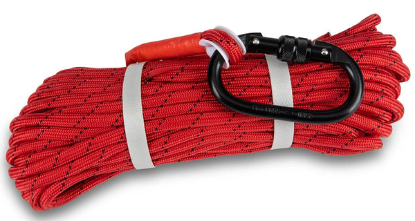 "Double Braided Red 1/3"" rope - 100ft"