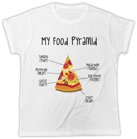 Unisex Funny Pizza T-Shirt - My Food Pyramid