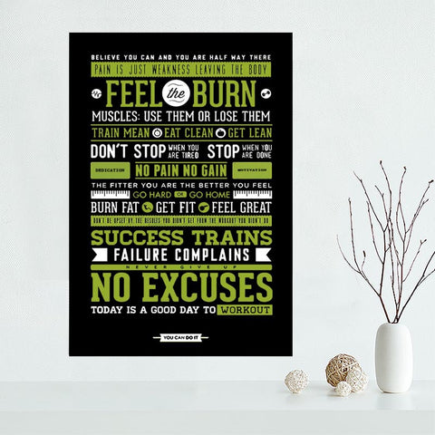 Various Inspirational Wall Art Quotes- Gym, Life, Weight Loss, Perseverance