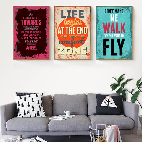 Colorful Motivational Quotes - Decorative Wall Art