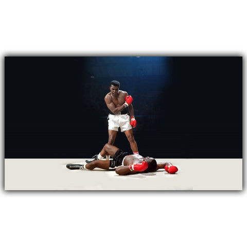 Boxing Posters Muhammad Ali Poster Motivational Inspirational Quotes Art Silk Fabric Poster Print