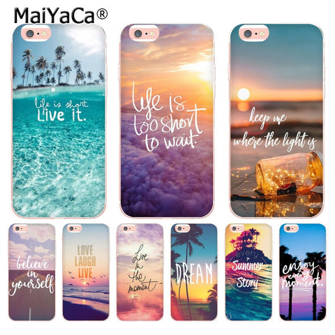 iPhone Protective Case Motivational Quotes - Variety Models/Quotes
