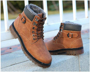 2019| Men's Leather Warm Boots
