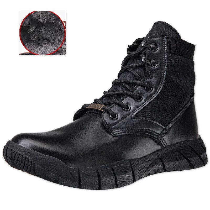Men Leather Casual Military Winter Shoes