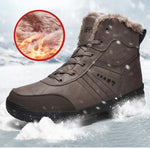 Genuine Leather Fashion Men's Snow Boots