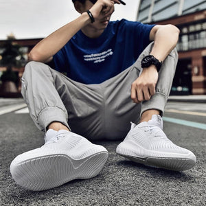 Men's  Air Sole Lace-up Trainer Sneakers