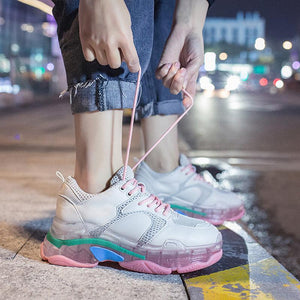 Glamour Transparent Heel women Sneakers