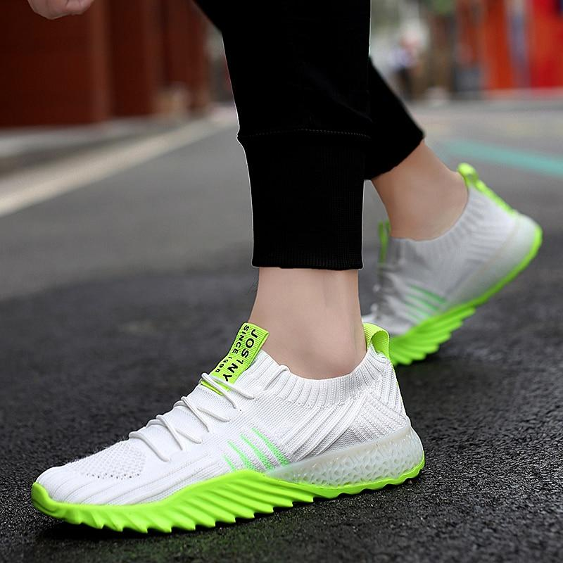 New 4D print Ultralight Men Running Shoes