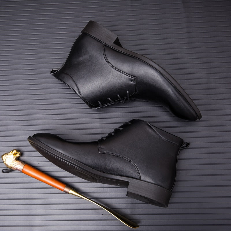 Men's Leather Short Boots