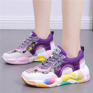 Women's Sequins Dad Sneakers
