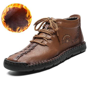 New Arrival! Men's Fashionable Warm Leather Shoes