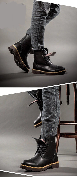 Men Casual Leather Boots