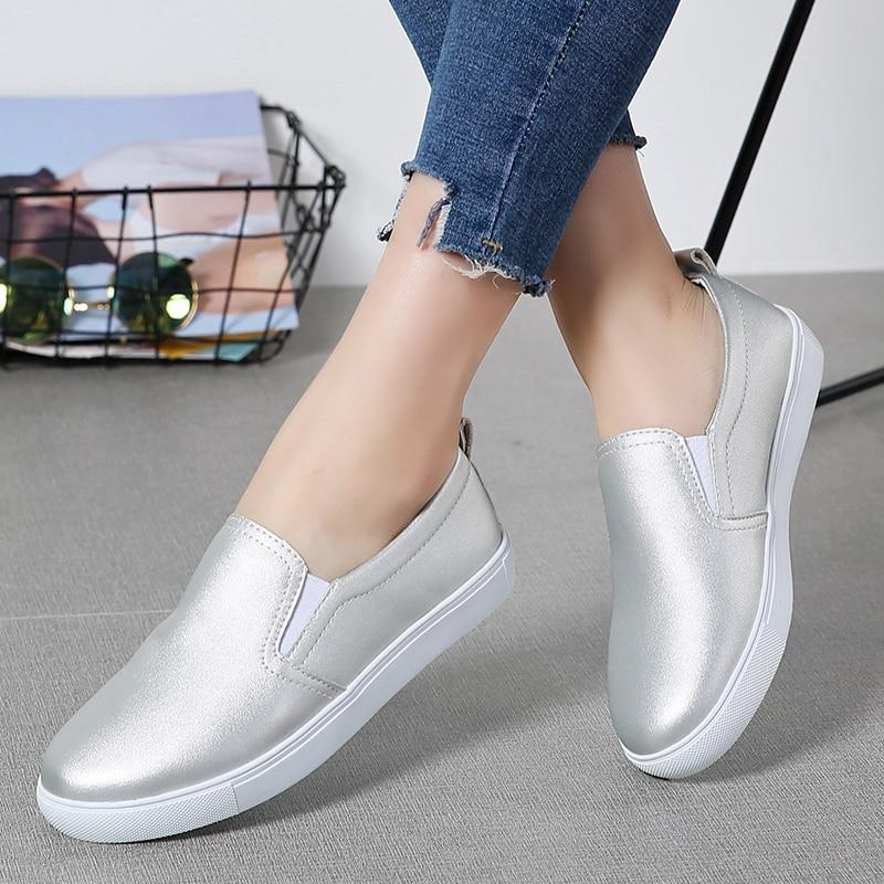 Women Spring Leather Shoes