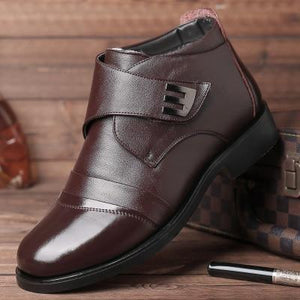Men's leather business casual shoes
