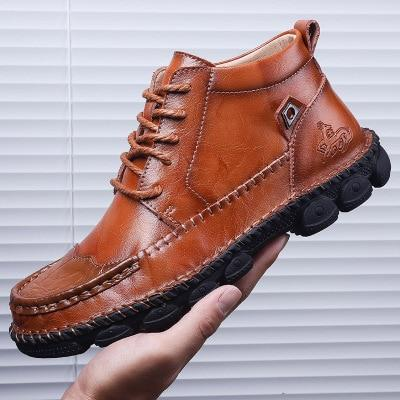 New Autumn Winter Cow Leather Men's Boots