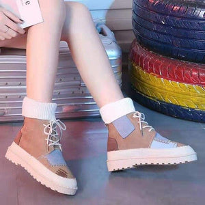 Women Wool mouth Boots