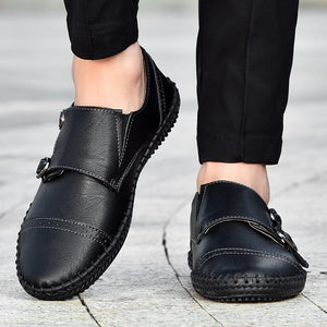 Men Breathable Leather Loafers