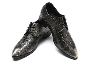 Men Crocodile Leather Shoes