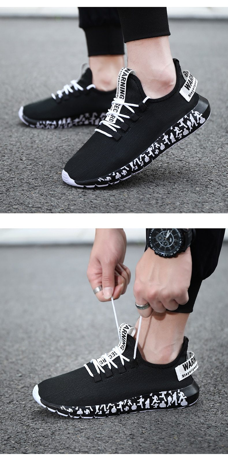 New Casual Men Breathable Summer Mesh Sneakers