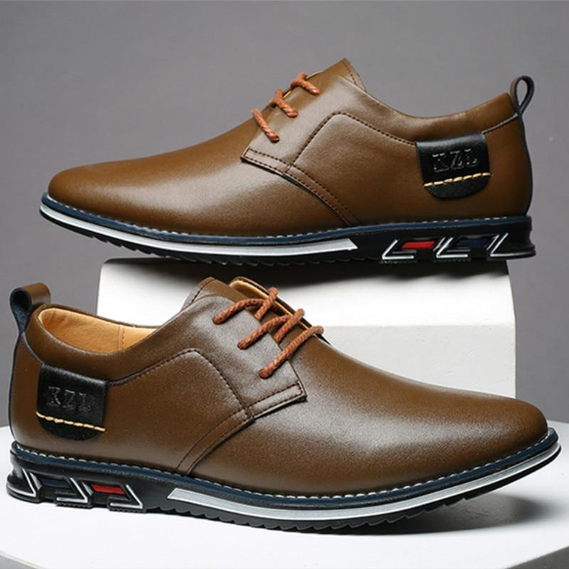Men Oxfords Leather Sneakers