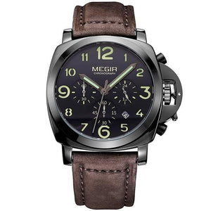 Noah - leather sports watch man - SpringLime