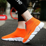 Summer Orange Knit Sock Sneakers