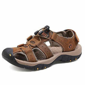 Classic Men Summer Leather Sandals - SpringLime