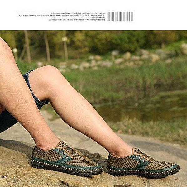 Evan Fashion Breathable Mesh Casual Leisure Flats - SpringLime