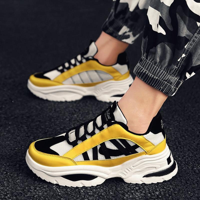 2019| Men Vintage Dad Series Light Breathable Sneakers - SpringLime