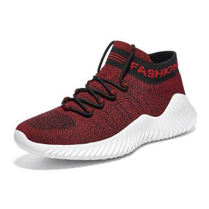 Mens Flyknit Breathable Sneakers