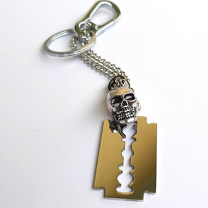 Razor Blade with Skull Keyring - SuperLdN