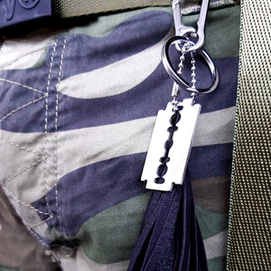 Leather-look Razorblade Keyring - SuperLdN