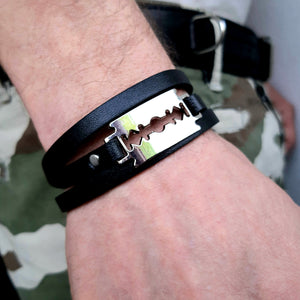 Leather Razor Blade Bracelet - SuperLdN